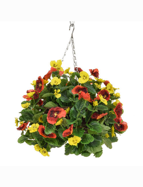 Hanging Basket Orange Yellow