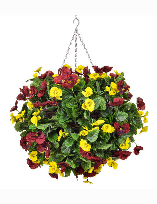Hanging Basket Red Yellow